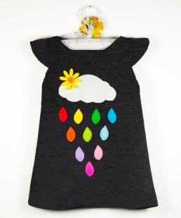 φορεμα βροχουλα γκρι
