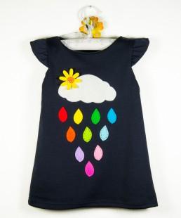 χειροποίητο παιδικό φόρεμα βροχούλα για κορίτσια