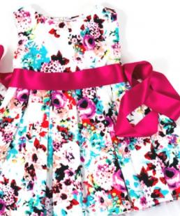 φόρεμα για βάφτιση λουλουδια