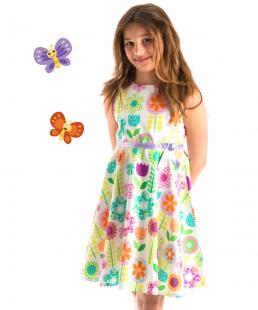 φόρεμα με λουλυδια