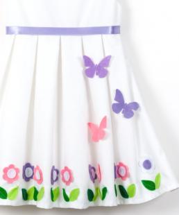 λευκό φόρεμα για βάφτιση λεβαντα