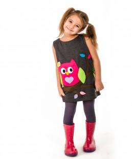 owl dress girls