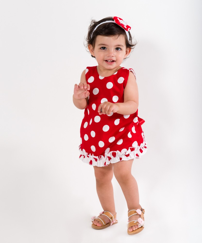3a958a12f60 Baby Girl Romper Set (red   white)