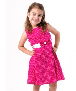 φόρεμα για κορίτσια φουξ πουά