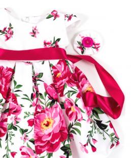 φόρεμα βάφτισης τριαντάφυλλα
