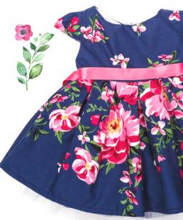 παιδικο φόρεμα με τουλι τριανταφυλλα