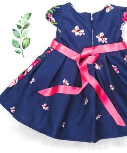 βαφτιστικό φόρεμα με λουλουδια