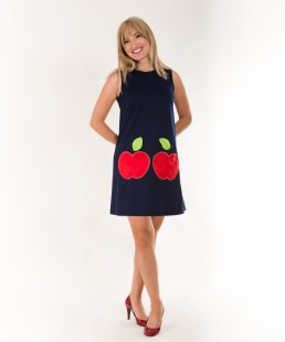 handmade dress felt apples