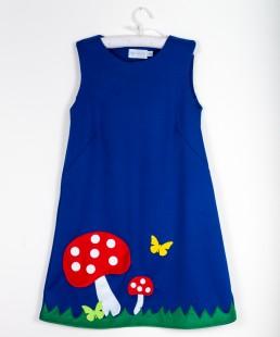 φορεμα μανιταρι απλικε