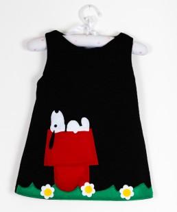 snoopy παιδικο χειροποιητο φορεμα