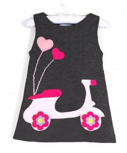 παιδικο φορεμα βεσπα γκρι