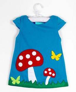 χειροποίητο φορεμα για κορίτσια μανιταρι