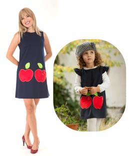 μαμα κορη σετ φορεμα μηλα
