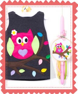 παιδικό φόρεμα κουκουβάγια