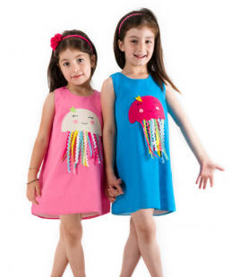 παιδικό φορεμα χειροποίητο μεδουσα