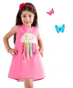 παιδικο φόρεμα ροζ μεδουσα