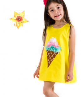 χειροποίητο κίτρινο φόρεμα παγωτό