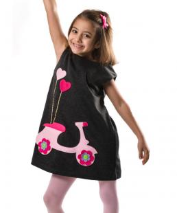 χειροποίητο παιδικό φόρεμα βεσπα