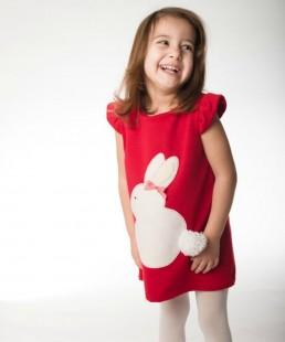 κόκκινο φόρεμα λαγουδάκι