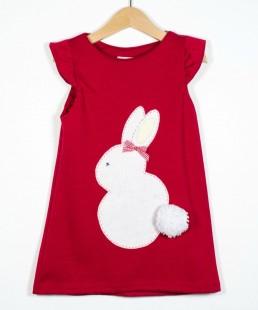 παιδικό φόρεμα πασχα δώρο χειροποίητο λαγουδάκι