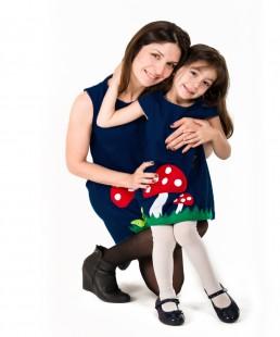 γυναικειο χειροποίητο φόρεμα μανιτάρι