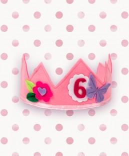 birthday crown pink