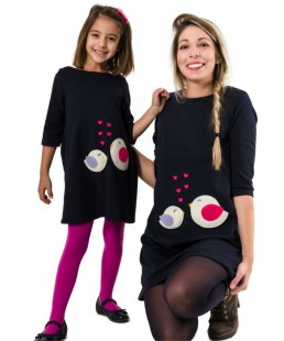 μαμα και κορη φορεματα πουλακια