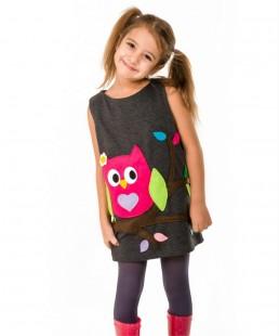 παιδικο φόρεμα κουκουβάγια