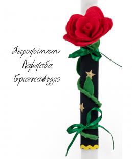 χειροποίητη λαμπάδα Τριαντάφυλλο