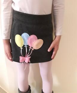 χειροποίητη φουστα μπαλόνια