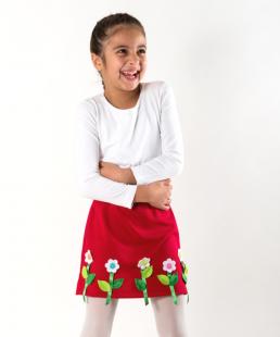 Χειροποίητη Παιδική Φούστα με Λουλούδια