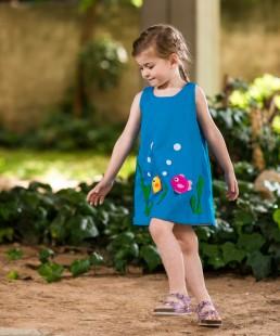 φόρεμα γαλάζιο βυθός