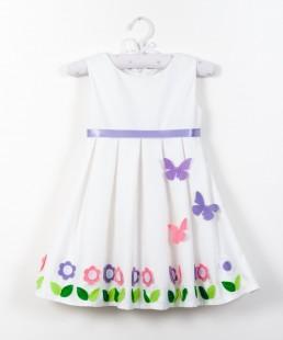 Λευκό φόρεμα πεταλούδες