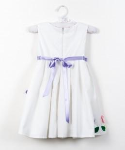 χειροποίητο λευκό φόρεμα