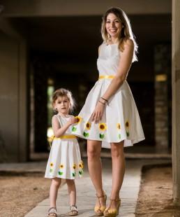 Μαμα και κόρη φόρεμα Ηλίανθος