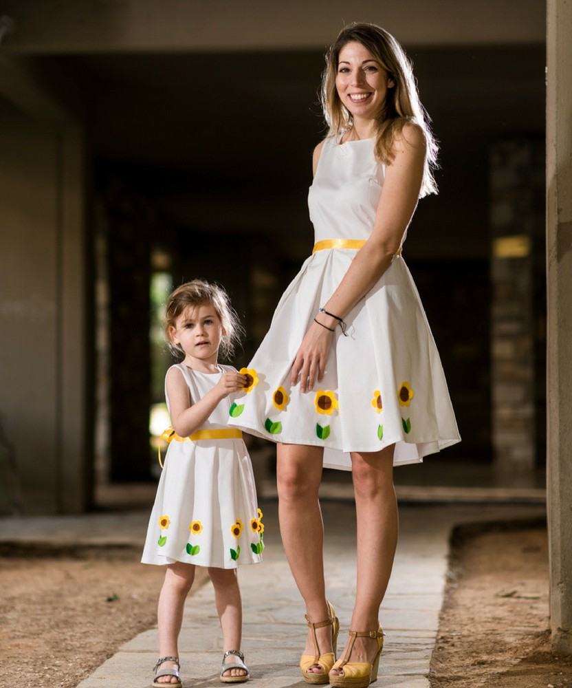 5141e0fef67a μαμα και κορη φορεματα Ηλίανθος