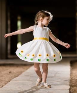 παιδικό φόρεμα Ηλίανθος
