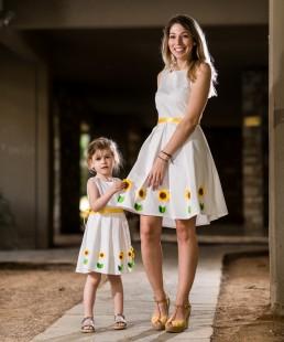 Μαμά και κόρη Φορέματα Ηλίανθος