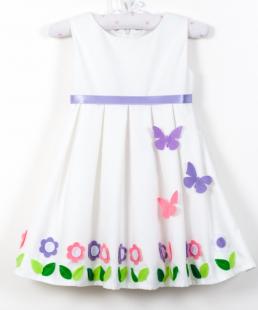 Χειροποίητο φόρεμα με πεταλούδες λουλουδια