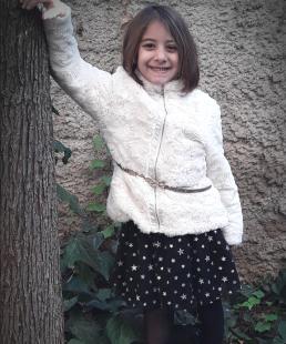 Μαύρη Τούλινη παιδική φούστα με αστεράκια