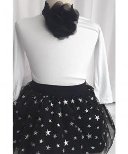 τούλινη μαύρη φούστα με αστεράκια