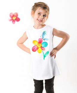 παιδικό κολάν με λουλούδι
