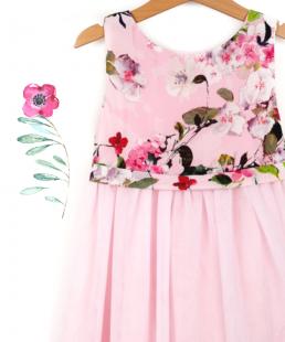 τουλινο παιδικο φορεμα αμυγδαλια