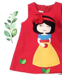 παιδικό φόρεμα Χιονάτη κόκκινο