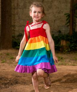 καλοκαιρινό φόρεμα ουράνιο τόξο