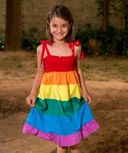 παιδικό φόρεμα ουράνιο τόξο
