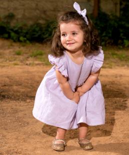 λινο φόρεμα για κορίτσια λιλά