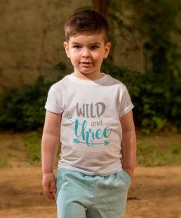 μπλουζακι γενεθλιων wild and three