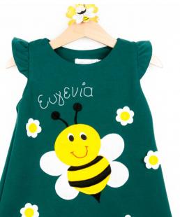 παιδικό φόρεμα με όνομα μέλισσα