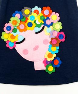 παιδικό φόρεμα με λουλούδια